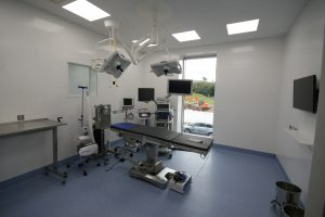A high tech operating suite designed by ACD Projects